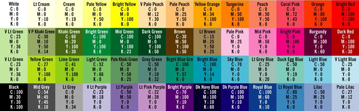 The Hogger Logger cards Hogger Logger Pinterest - cmyk color chart