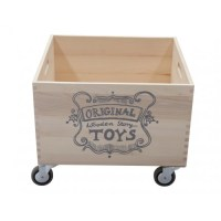 Wooden Story Large Storage Crate on Wheels