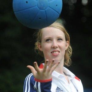 Georgie With Blue Ball
