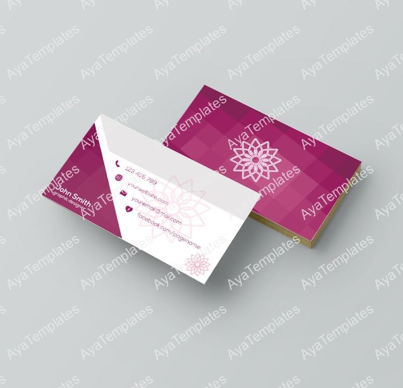Business card template design \u2013 \u201cGraphic designer\u201d \u2013 AYA Templates - buisness card design