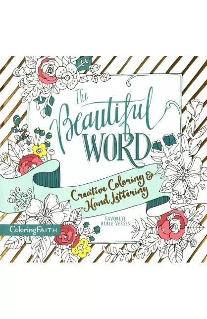 THE BEAUTIFUL WORD CREATIVE COLORING  HAND LETTERING - AYAT Online