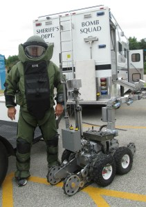 Tom in bomb suit WPA