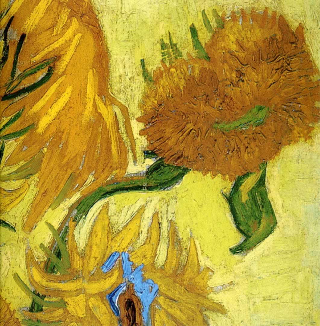 Vincent Van Gogh Paintings Sunflowers Sunflower Close Up Vincent Van Gogh Wallpaper Image