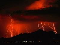 Orange Lightning Storm - Lightning Wallpaper