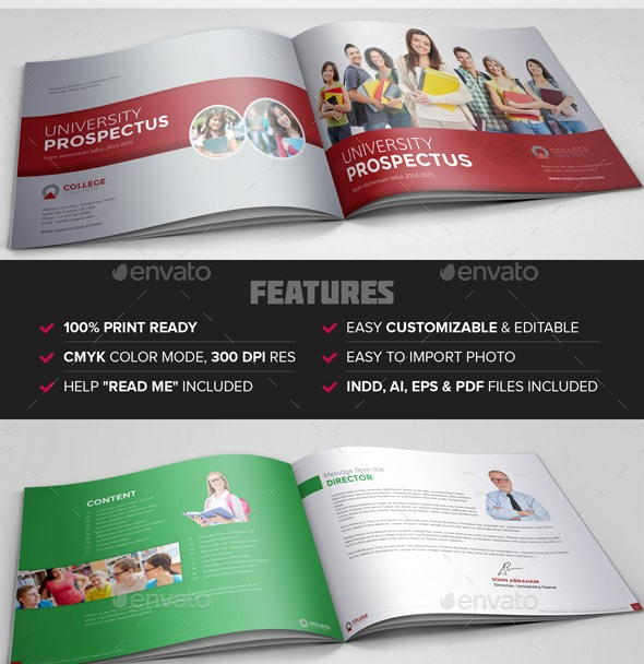 College-University-Prospectus-Brochure-Templatejpg (590×608 - university brochure template
