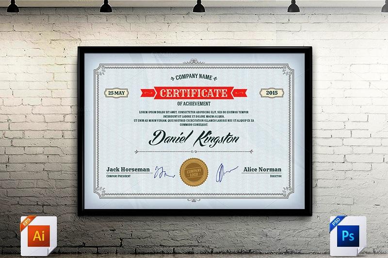 desain template sertifikat untuk ijazah dan