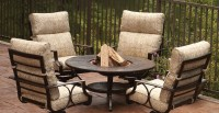 Dining Table: Fire Pit Dining Table Chairs