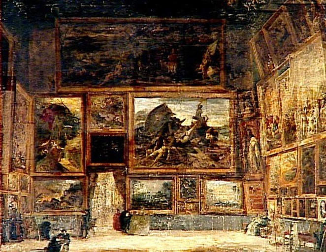 "Salon Carré ""view Of The Salon Carré In The Louvre In 1831"" Nicolas"