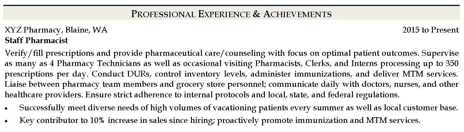 Writing a Pharmacist Resume - Resume Tips iHirePharmacy