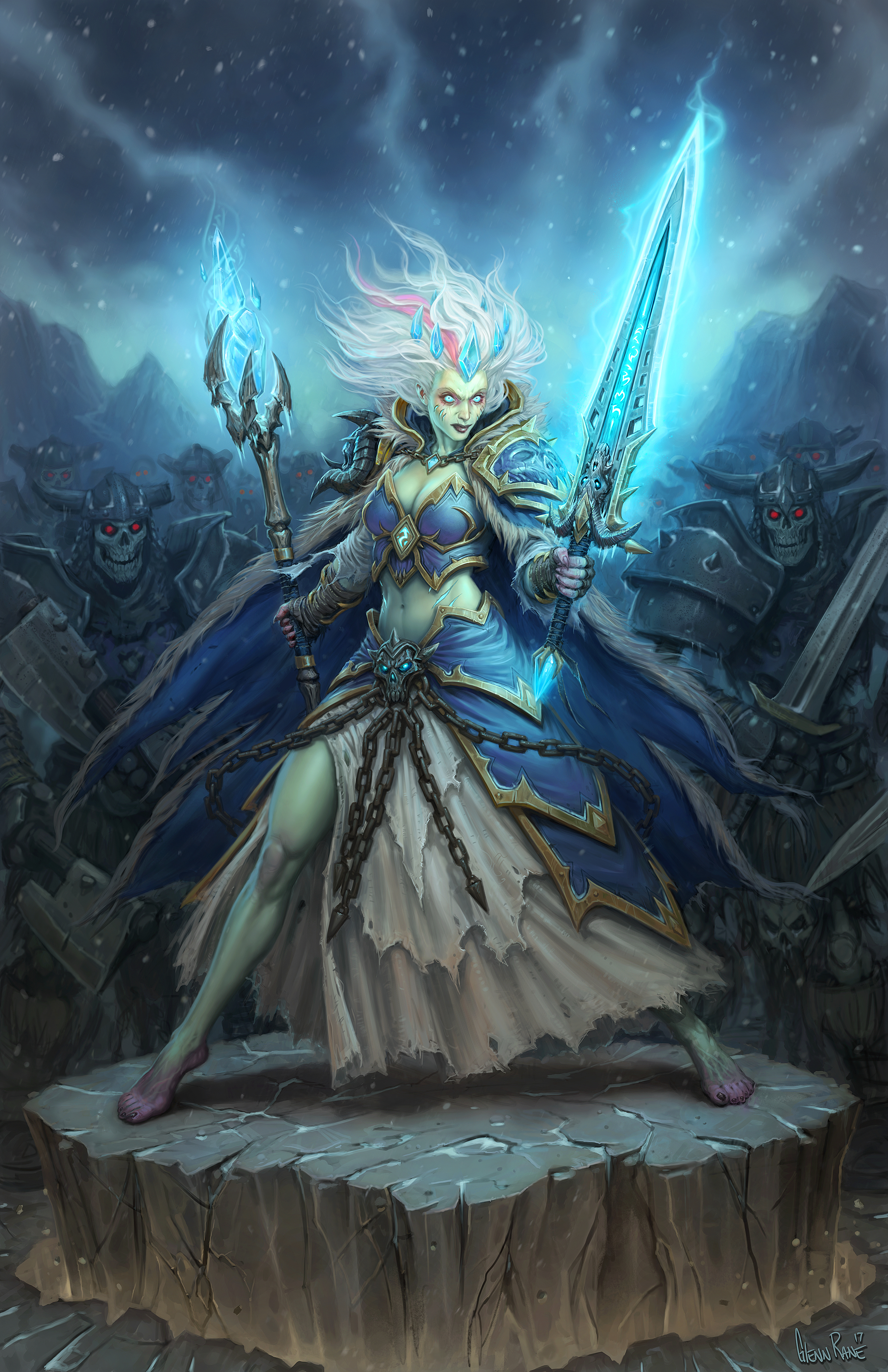 Devil May Cry Wallpaper Hd Frost Lich Jaina Full Art Looks Really Cool Hearthstone