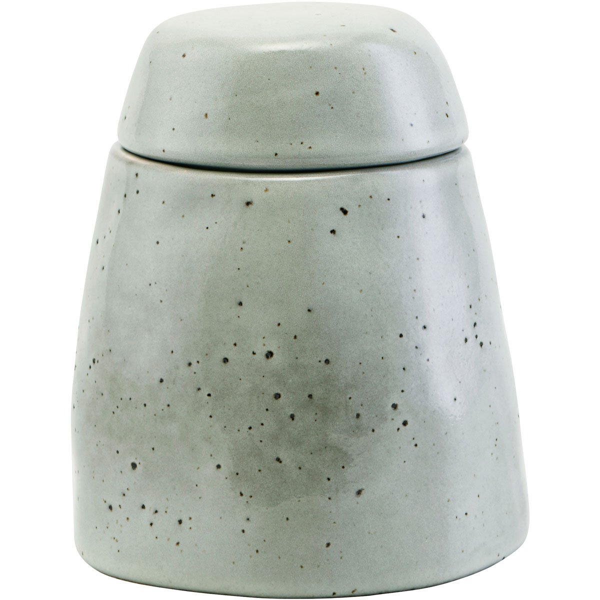 House Doctor Rustic Rustic Sugar Bowl With Lid Grey Blue