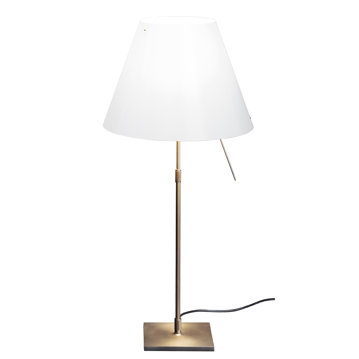 Luceplan Costanza Costanza Table Lamp Brass White