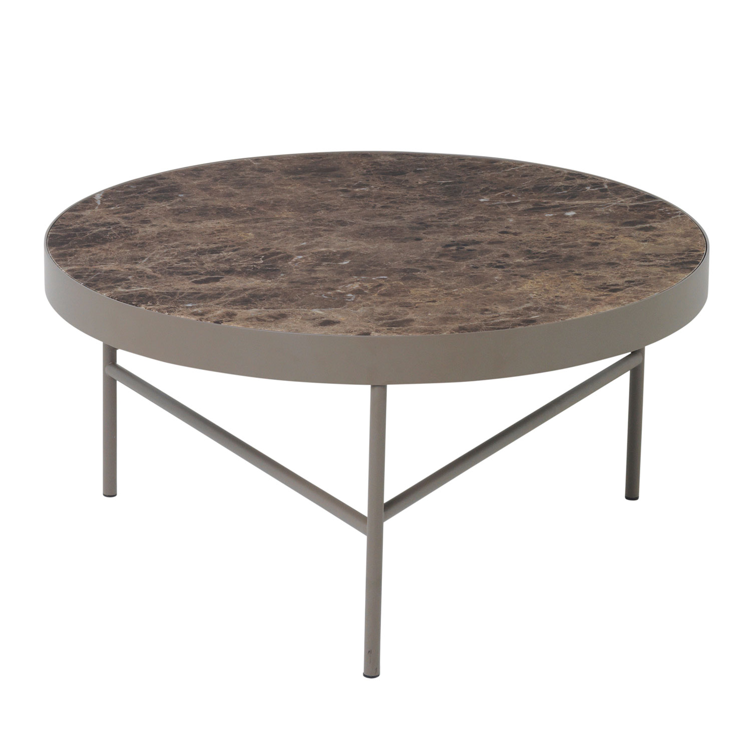 Ferm Living Couchtisch Marble Table Large Brown