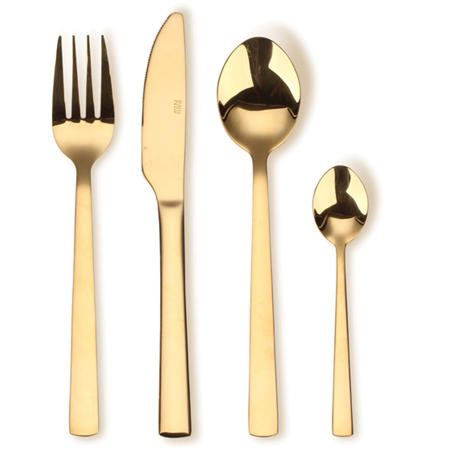 Gold Cutlery Sets Raw Cutlery Set 16 Pcs Gold