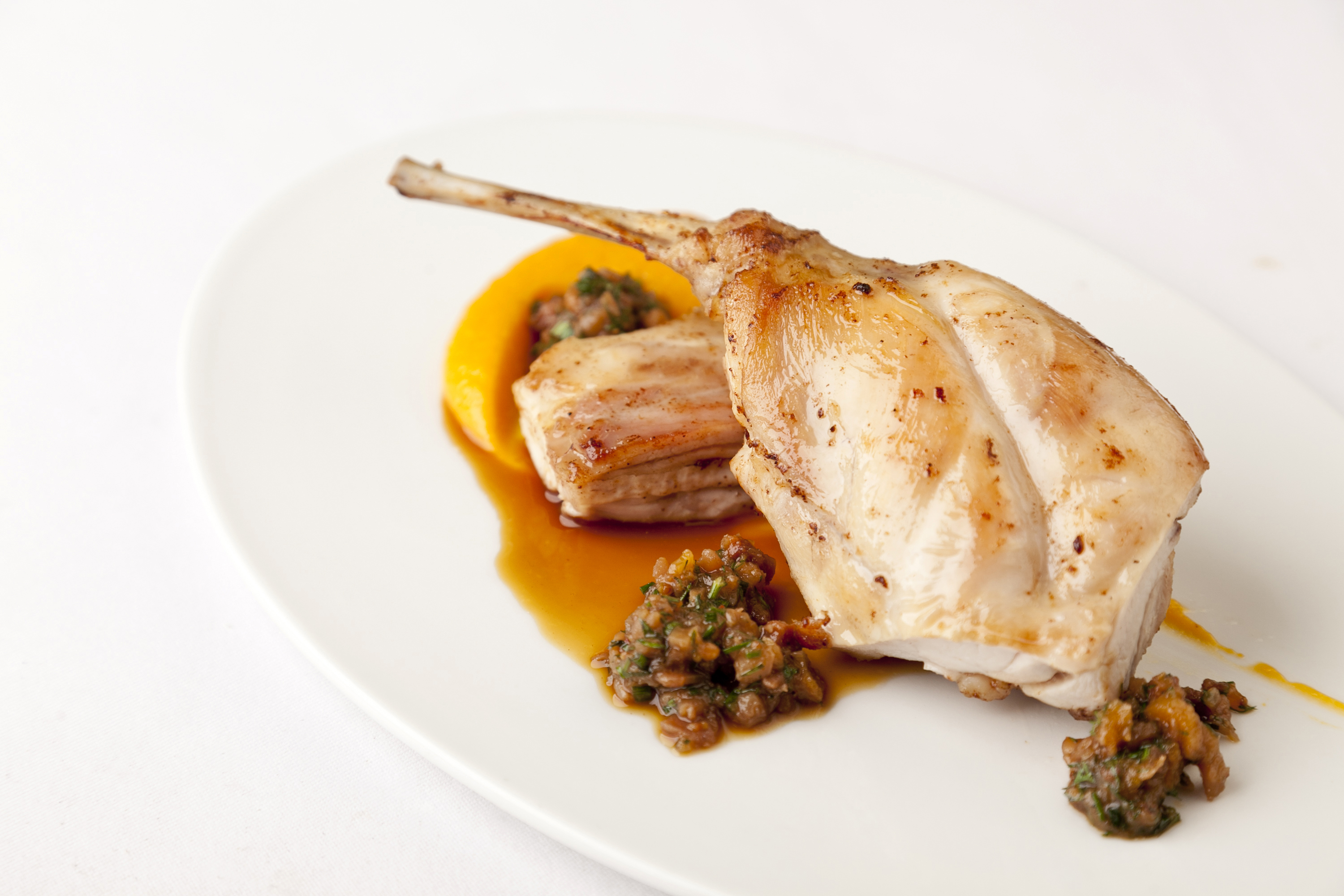 Black And Mustard Wallpaper Cooked Rabbit Meat