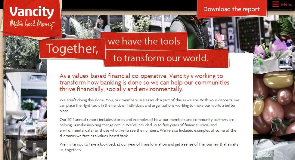 Vancity 2013 Annual Report