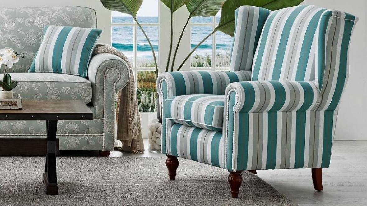 Buy Alma Fabric Wing Chair Harvey Norman Au