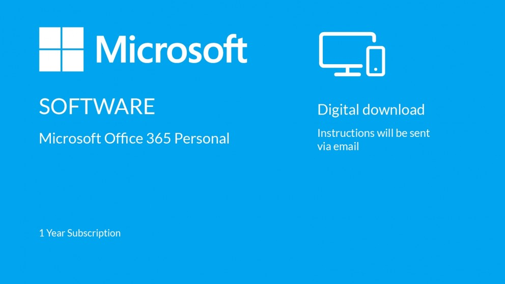 Buy Microsoft Office 365 Personal Digital Download - 1 Year