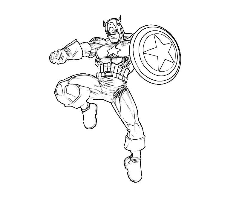 Disegni Da Colorare Captain America