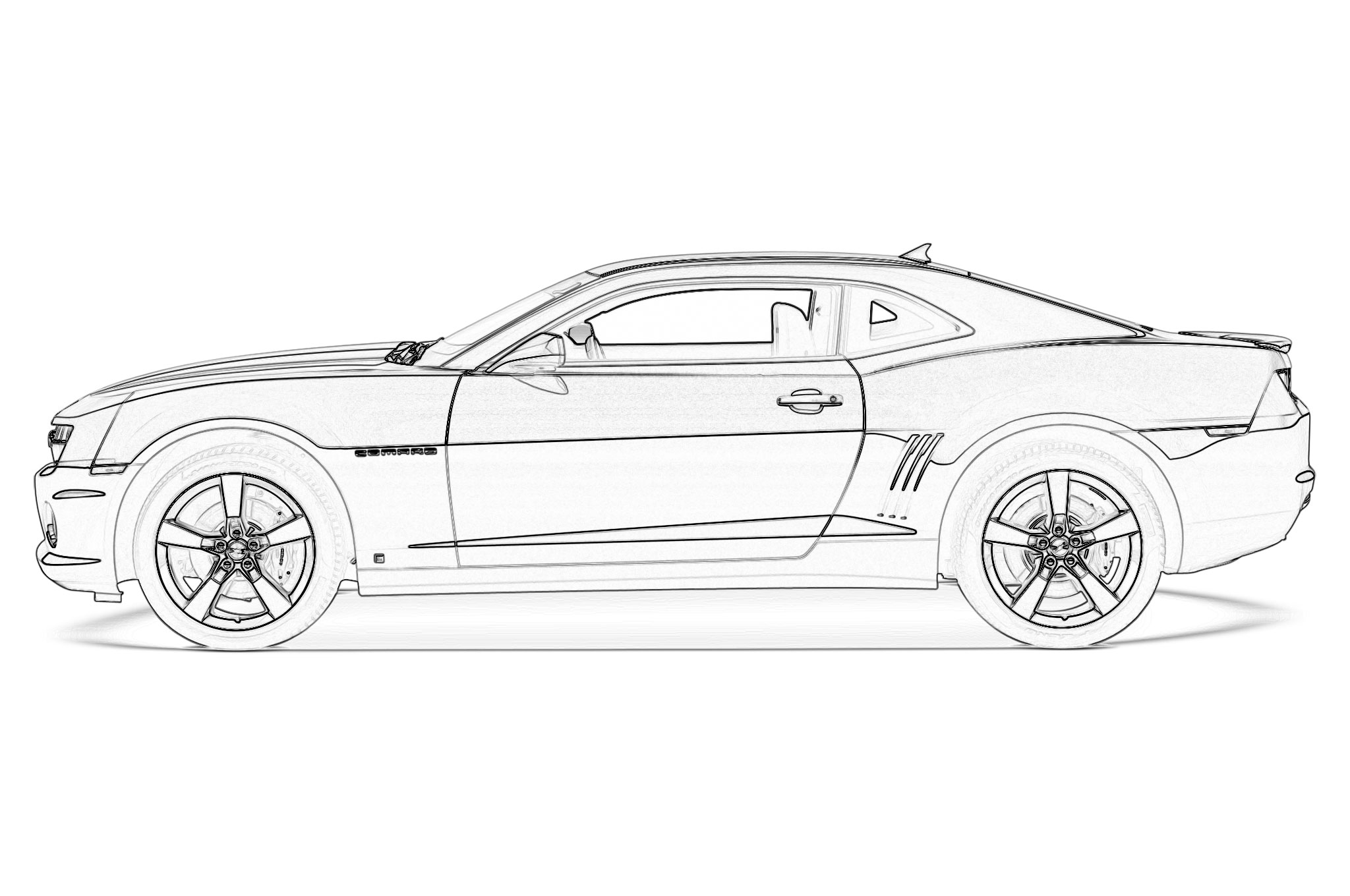 Camaro Coloring Page Free Coloring Pages Download | Xsibe ...