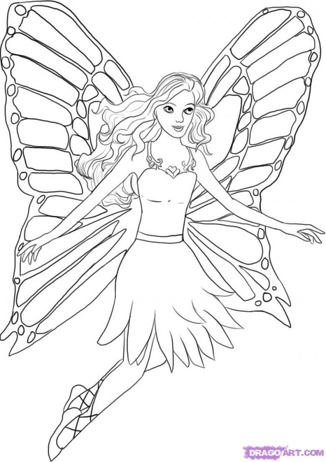 Barbie Fairytopia Coloring Pages - Democraciaejustica