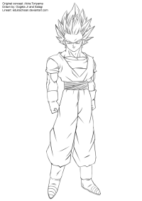 Goku Ssj2 Coloring Pages - AZ Coloring Pages
