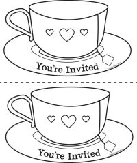 Teacup Coloring Page - Coloring Home