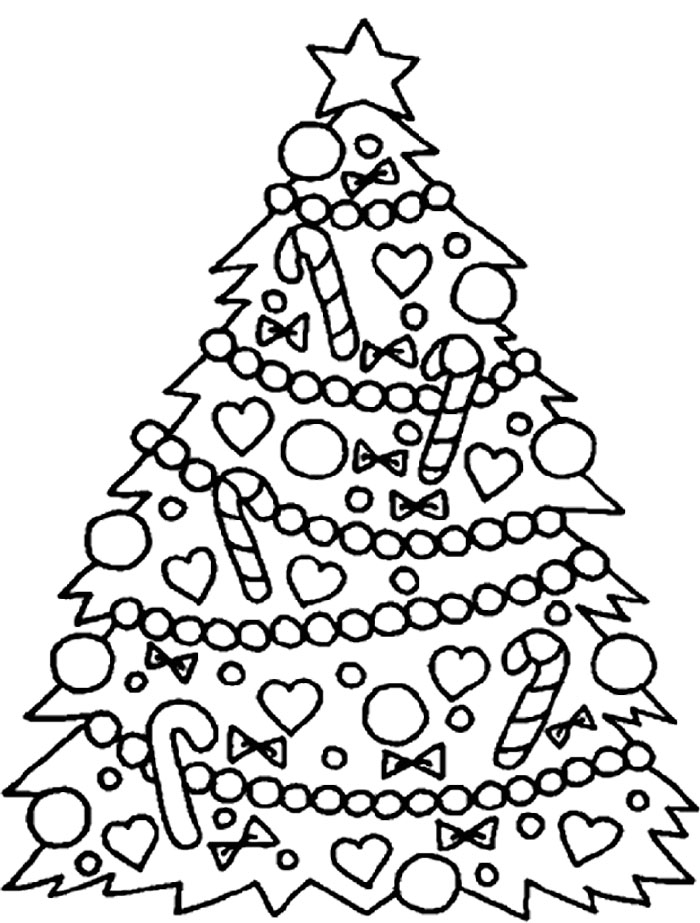 Printable christmas decoration coloring pages cooloring com