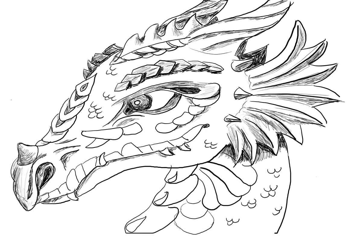 Fire Breathing Dragon Coloring Page - Eskayalitim