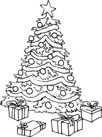 Coloring Pages Christmas Tree With Presents Christmas Tree With