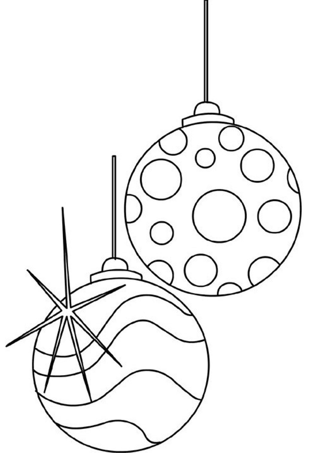 Christmas Ornament Clip Art Black And White Christmas Ornaments Coloring Pages Printable Coloring Home