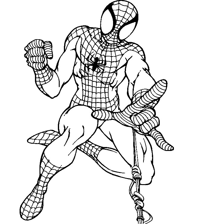 Spiderman Printable Coloring Pages Az