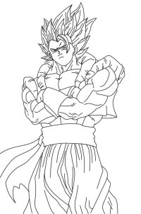 Ssj4 Gogeta Coloring Pages - Coloring Home