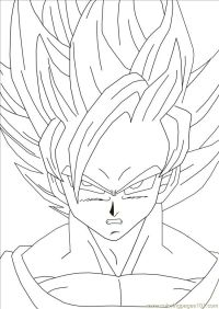 Color Goku - Coloring Home