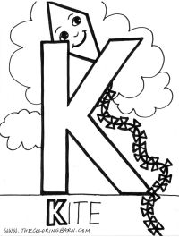 Letter K Coloring Page - Coloring Home