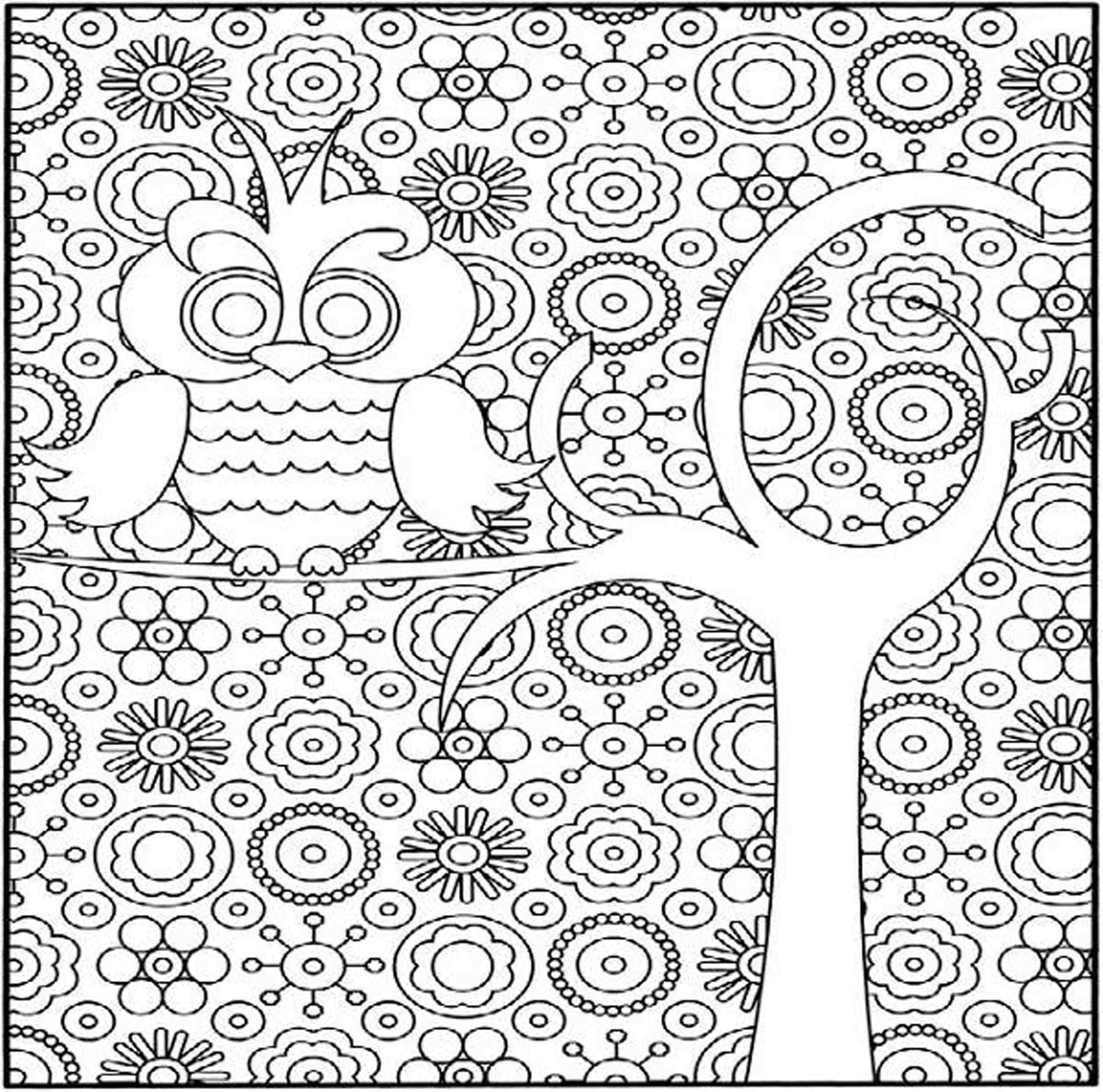 Best Coloring Pages Difficult Printable