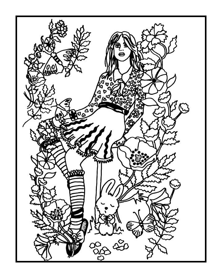 Your secret garden coloring book page by az coloring pages
