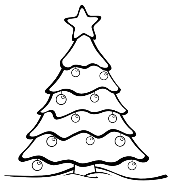 Christmas Tree Coloring Pages Online
