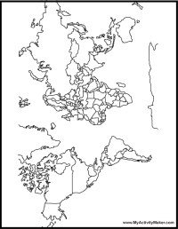 World Map Coloring Page For Kids - AZ Coloring Pages
