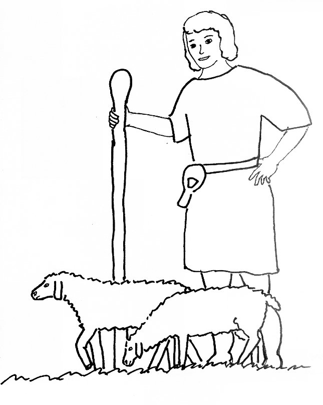David The Shepherd Boy Coloring Pages - Eskayalitim