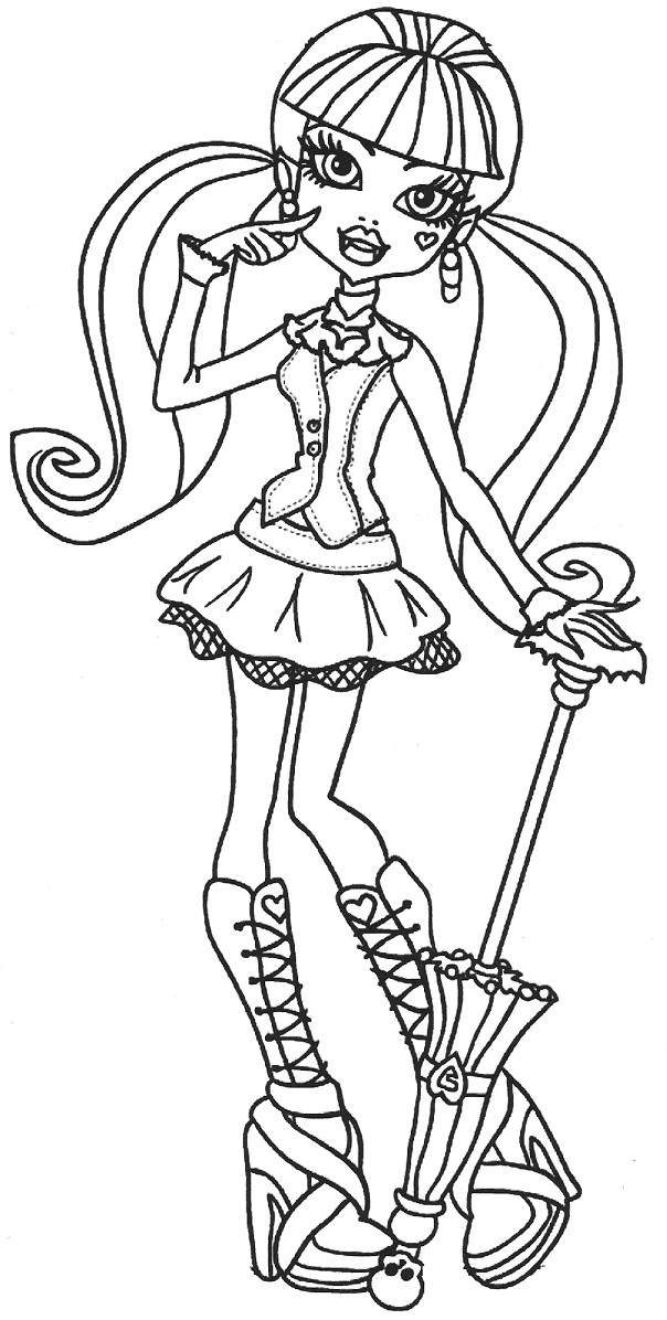 Draculaura With Long Bunches