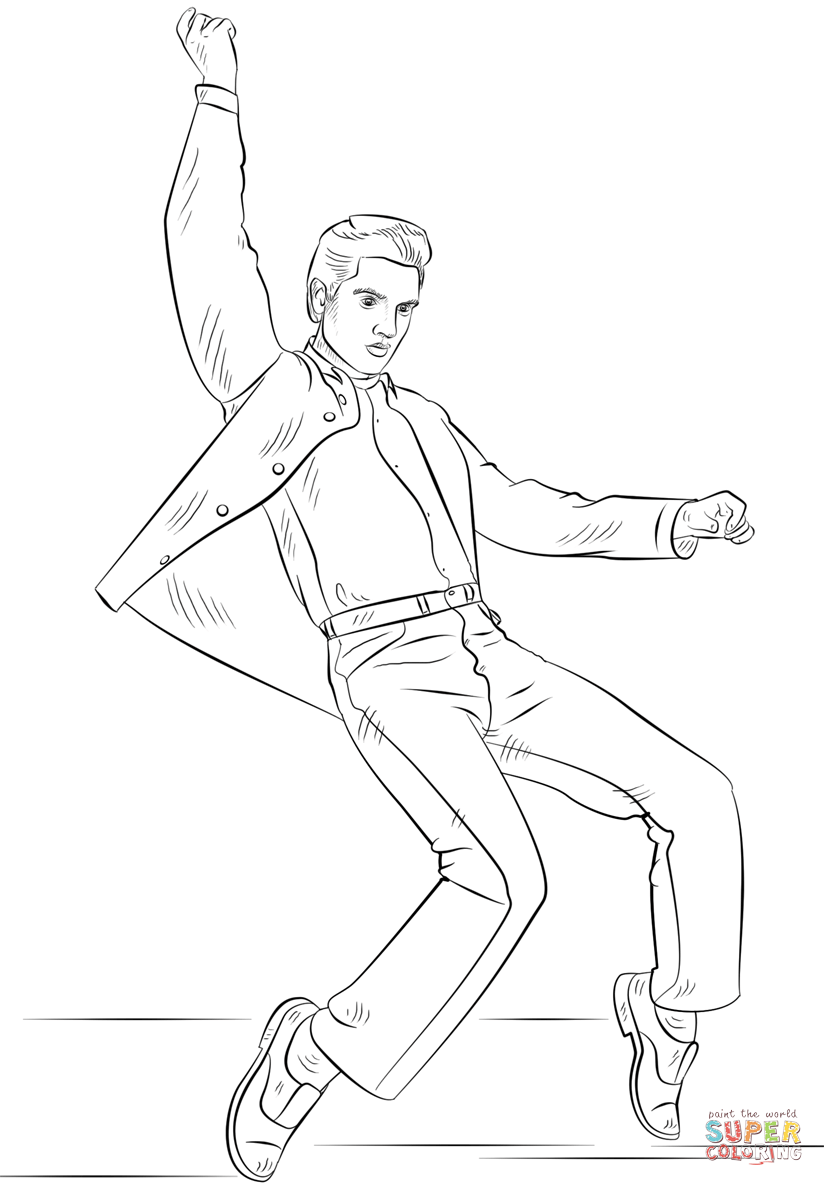 Elvis Presley Coloring Pages Coloring Home