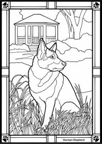 German Shepherd Coloring Pages | Coloring Pages - Coloring ...