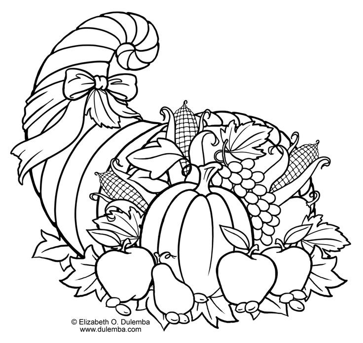 Cornucopia Printable Coloring Pages - Eskayalitim