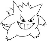 Pokemon Coloring Pages Gengar Line Coloring Pages