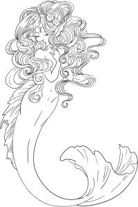 Adult Coloring Pages Mermaid - Coloring Home