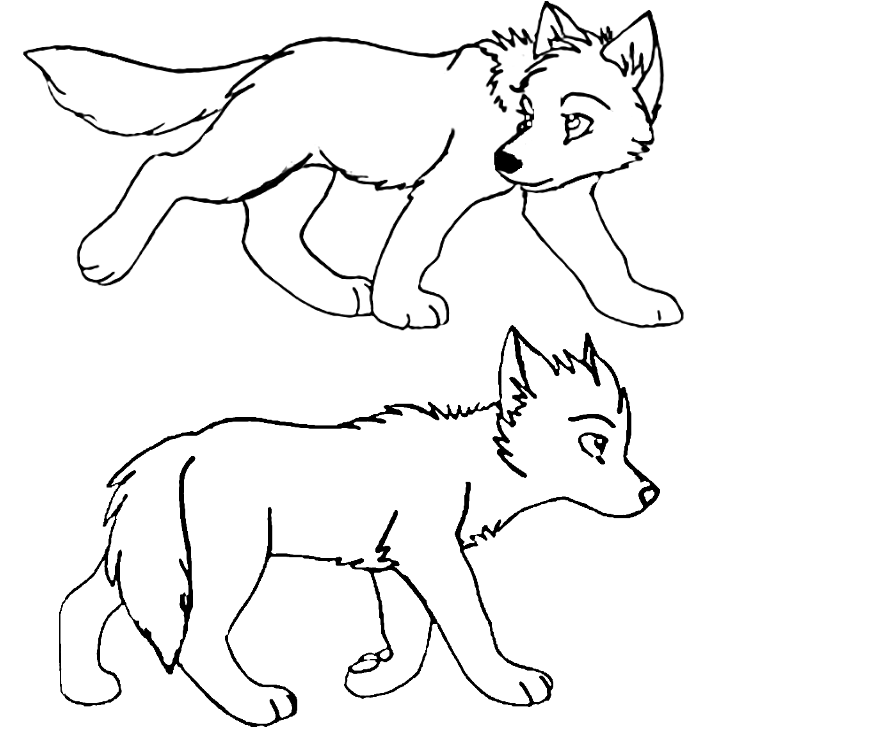 Wolf Pup Coloring Pages - Eskayalitim