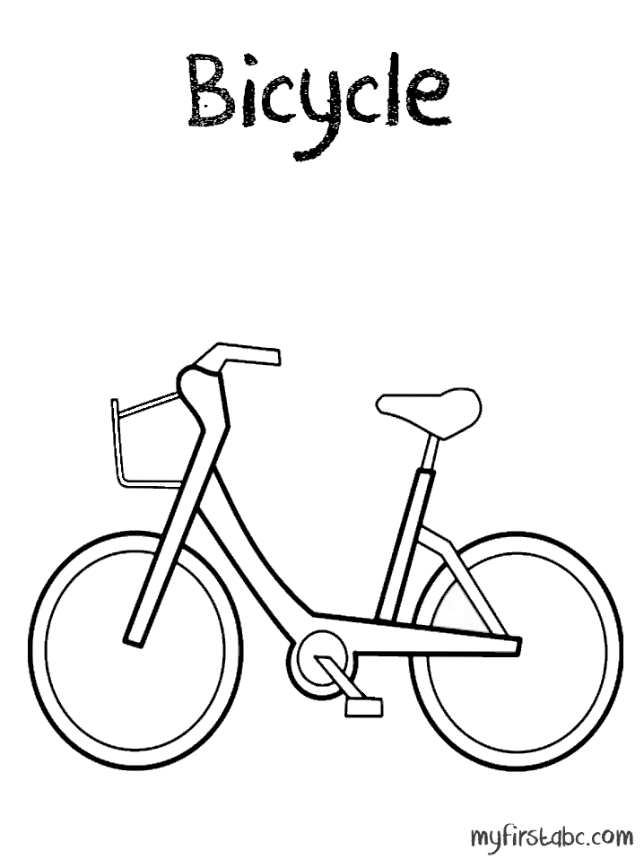 Bicycle Safety Coloring Pages