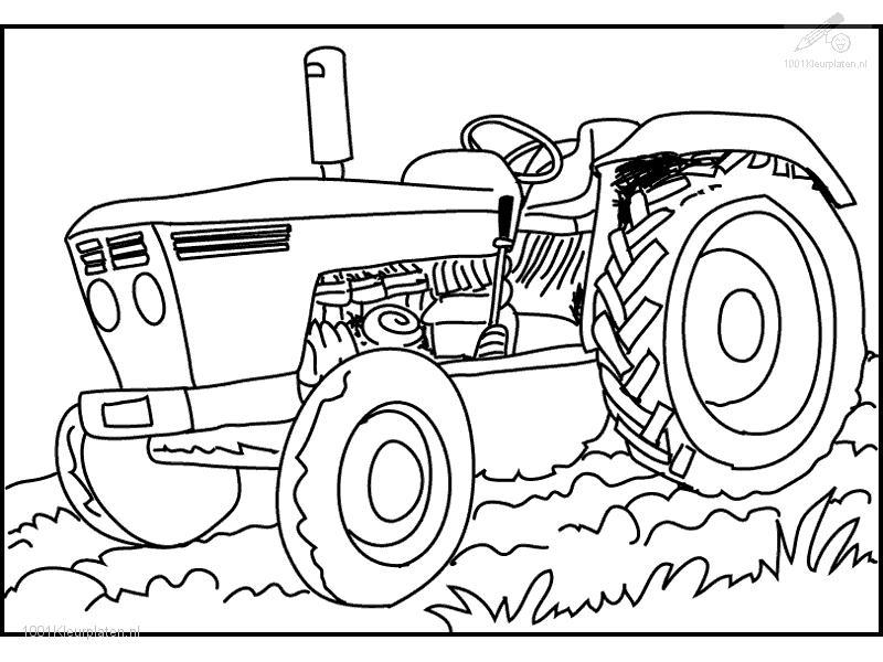 free coloring pages of traktor ford