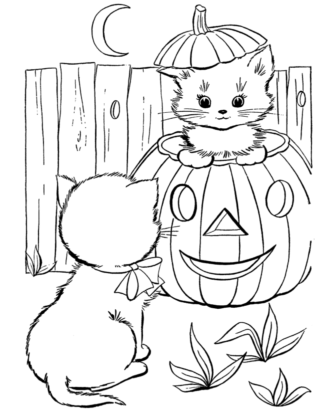Free Halloween Pictures To Color Az Coloring Pages
